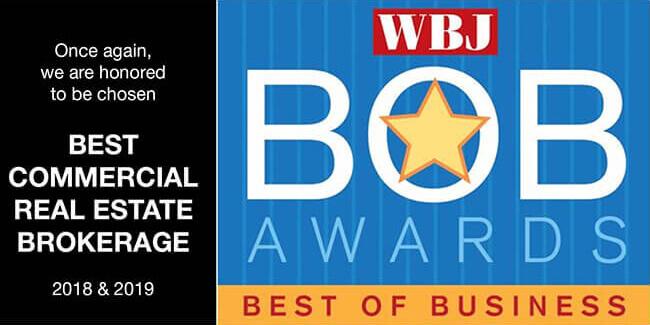 """""""Best Commercial Real Estate Brokerage"""" 2019"""