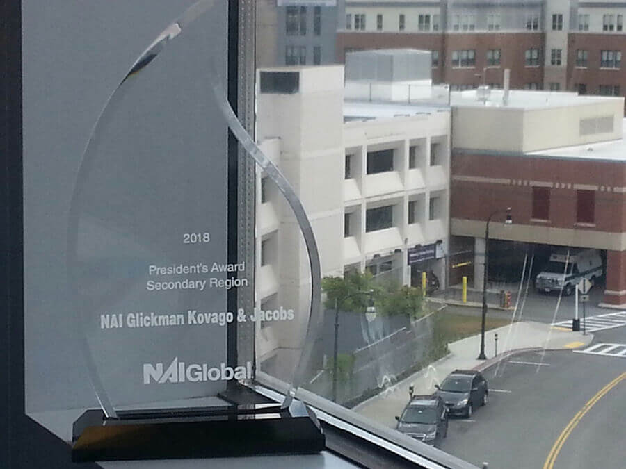 NAI Glickman Kovago & Jacobs Receives NAI Global President's Award